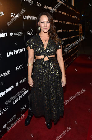 Stock Photo of Simone Bailly attends the Los Angeles special screening of 'LIFE PARTNERS' Presented By PAX at The Arclight, in Hollywood, Calif