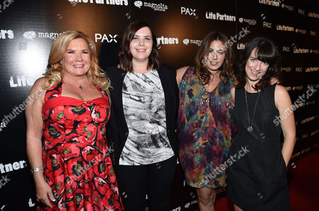 Anne O'Shea, Jordana Mollick, Joni Lefkowitz, and Susanna Fogel attend the Los Angeles special screening of 'LIFE PARTNERS' Presented By PAX at The Arclight, in Hollywood, Calif
