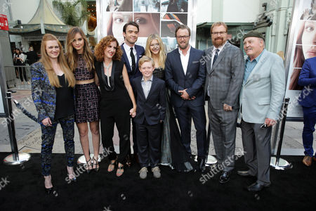 Mireille Enos, Liana Liberato, Author Gayle Forman, Jamie Blackley, Jakob Davies, Chloe Grace Moretz Joshua Leonard, Director R.J. Cutler and Stacy Keach seen at the Los Angeles World Premiere of New Line Cinema's and Metro-Goldwyn-Mayer Pictures' 'If I Stay' held at TCL Chinese Theatre, in Hollywood