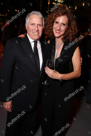 Dan Fellman, President of Domestic Distribution for Warner Bros. Pictures and Author Gayle Forman seen at the Los Angeles World Premiere of New Line Cinema's and Metro-Goldwyn-Mayer Pictures' 'If I Stay' held at TCL Chinese Theatre, in Hollywood