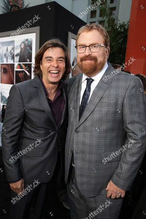 Composer Heitor Pereira and director R.J. Cutler seen at the Los Angeles World Premiere of New Line Cinema's and Metro-Goldwyn-Mayer Pictures' 'If I Stay' held at TCL Chinese Theatre, in Hollywood