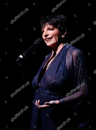 Liza Minnelli performs during A Tribute to Marvin Hamlisch, a memorial concert, at The Juilliard School's Peter Jay Sharp Theater, in New York