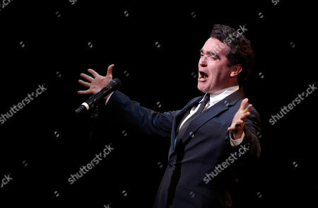 Brian d'Arcy James performs during A Tribute to Marvin Hamlisch, a memorial concert, at The Juilliard School's Peter Jay Sharp Theater, in New York