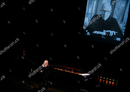 Barbara Streisand performs during A Tribute to Marvin Hamlisch, a memorial concert, at The Juilliard School's Peter Jay Sharp Theater, in New York