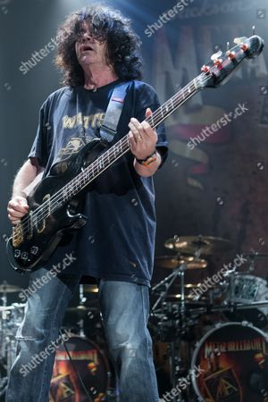 Jimmy Bain, of Dio, performs on stage during the Metal Allegiance concert at the House of Blues, in Anaheim, Calif