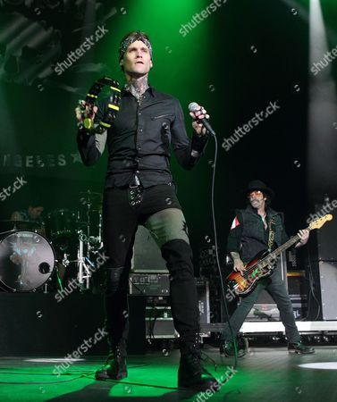 Stock Picture of Josh Todd and Jimmy Ashhurst of the rock band Buckcherry perform during the MMR B Q radio station concert at the Susquehanna Bank Center, in Camden, N.J