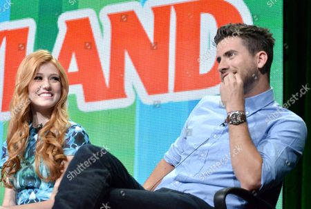 "Katherine McNamara, left, and Ryan Rottman attend the MTV 2014 Summer TCA - ""Happyland"" at the Beverly Hilton Hotel, in Beverly Hills, Calif"