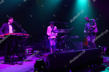 Michael Shuman, Zach Dawes and Tyler Parkford with Mini Mansions performs as the opener for My Morning Jacket at the Fox Theatre, in Atlanta
