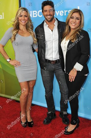 From left, Aylin Mujica, David Chocarro, and Lorena Garcia seen at the NBC/Universal Winter 2014 TCA on in Pasadena, Calif