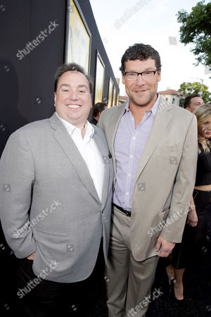 "Producer Peter Principato and Richard Brener, President, Production, New Line Cinema, seen at New Line Cinema's Los Angeles Premiere of ""Central Intelligence"" at Regency Village Theater, in Los Angeles"