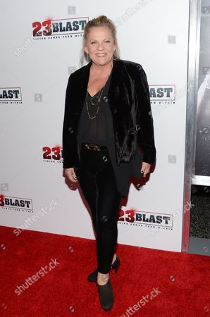 """Stock Picture of Actress Kim Zimmer attends the premiere of """"23Blast"""" at the Regal Cinemas E-Walk Theater, in New York"""