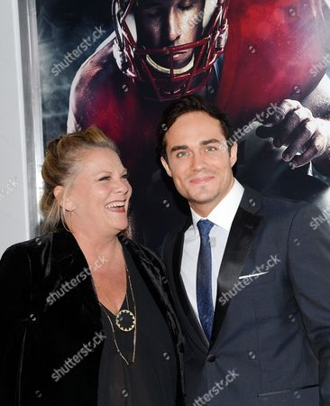 "Actors Kim Zimmer and Bram Hoover attend the premiere of ""23Blast"" at the Regal Cinemas E-Walk Theater, in New York"
