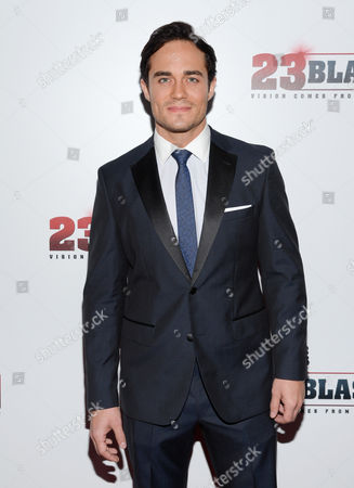 "Actor Bram Hoover attends the premiere of ""23Blast"" at the Regal Cinemas E-Walk Theater on in New York"