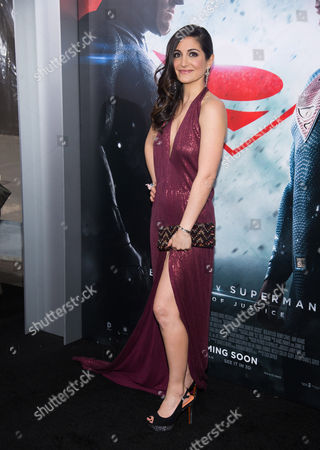 """Stock Image of Rebecca Buller attends the premiere of """"Batman v Superman: Dawn of Justice"""" at Radio City Music Hall on Sunday, March, 20, 2016, in New York"""