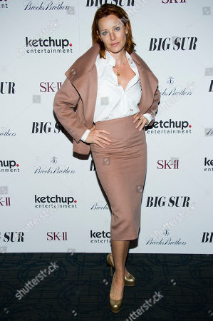 "Angela Featherstone attends the premiere of ""Big Sur"" on in New York"