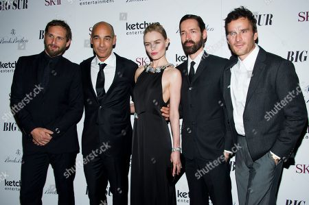 """Josh Lucas, from left, Jean Marc-Barr, Kate Bosworth, Michael Polish and Balthazar Getty attend the premiere of """"Big Sur"""" on in New York"""