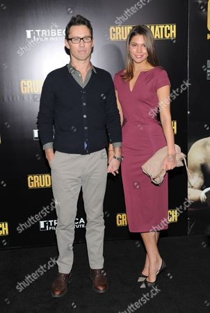 """Actor Jeffrey Donovan and wife Michelle Woods attend the world premiere of """"Grudge Match"""", benefiting the Tribeca Film Institute, at the Ziegfeld Theatre on in New York"""