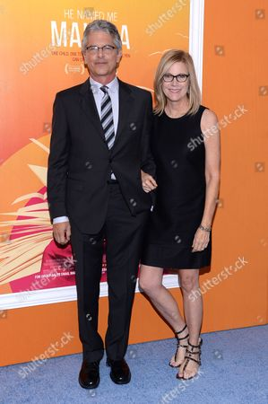 "Walter Parkes, left, and Laurie MacDonald and attend the premiere of ""He Named Me Malala"" at The Ziegfeld Theatre, in New York"