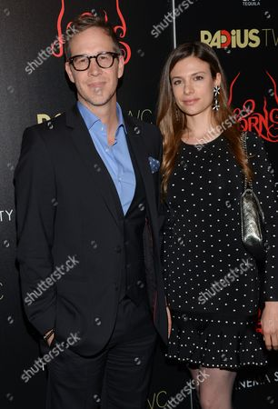 """Producer Joey McFarland and girlfriend Antoniette Costa attend the premiere of """"Horns"""" at The Landmark Sunshine Theater on in New York"""