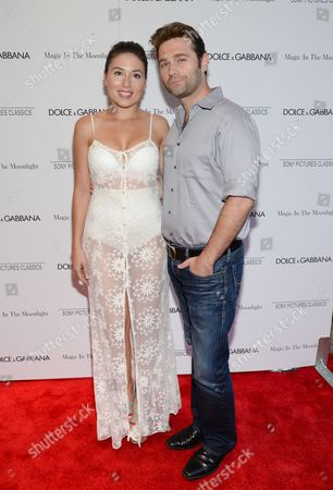 """Katrina Eugenia and John Buffalo Mailer attend the """"Magic In The Moonlight"""" premiere, hosted by Dolce & Gabbana, at the Paris Theatre, in New York"""