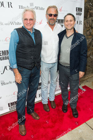 """David Yurman, Kevin Costner, and Jason Binn attend a special screening of """"Black and White"""" at the UA East Hampton Theater on in New York"""