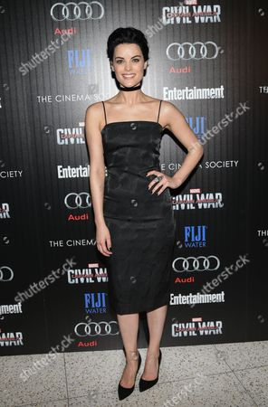 "Actress Jaime Alexander attends a special screening of ""Captain America: Civil War"", hosted by The Cinema Society and Audi, at Brookfield Place, Henry R. Luce Auditorium, in New York"