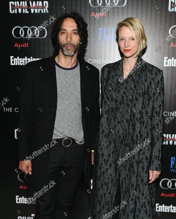 "Carlos Leon and wife Betina Holte attend a special screening of ""Captain America: Civil War"", hosted by The Cinema Society and Audi, at Brookfield Place, Henry R. Luce Auditorium, in New York"
