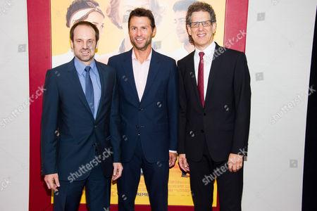 "Jeffrey Skoll, left, Jonathan King and Jim Berk attend ""The Hundred-Foot Journey"" premiere on in New York"