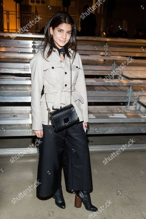 Lainy Hedaya attends the DKNY NYFW Fall/Winter 2016 fashion show at Skylight Modern, in New York