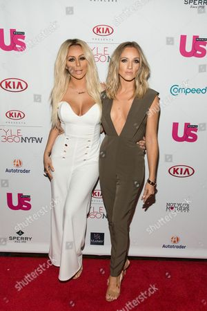 Aubrey O'day, left, and Shannon Bex attend the US WEEKLY celebrates Fashion Week at KIA STYLE360, in New York