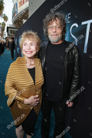 Stock Photo of Producers Paula Mae Schwartz and Steve Schwartz at Open Road Films Los Angeles Premiere of 'The Host' held at the ArcLight Hollywood, on Tuesday, March, 19, 2013 in Los Angeles