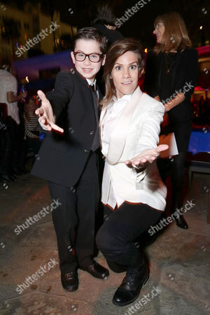 """Owen Vaccaro and Cameron Esposito seen at Open Road Presents the World Premiere of """"Mother's Day"""" at TCL Chinese Theatre, in Hollywood"""