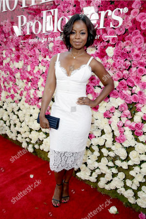 """Erica Tazel seen at Open Road Presents the World Premiere of """"Mother's Day"""" at TCL Chinese Theatre, in Hollywood"""