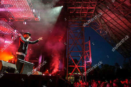 Stock Picture of Joel Houston with Hillsong UNITED performs during the Outcry Tour 2015 at Verizon Wireless Amphitheatre, in Atlanta