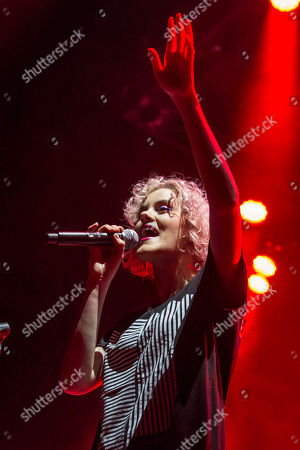 Stock Picture of Taya Smith with Hillsong UNITED performs during the Outcry Tour 2015 at Verizon Wireless Amphitheatre, in Atlanta