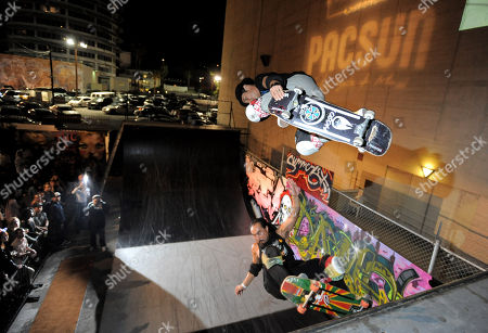 Christian Hosoi (above) skates at the 2012 Summer Lex Event presented by PacSun on in Los Angeles, CA