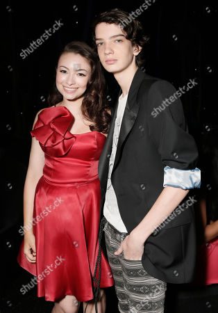 """Jodelle Ferland and Kodi-Smit-McPhee attend the pre-party to the world premiere of """"Paranorman"""" at the Globe Theater on in Universal City, Calif"""