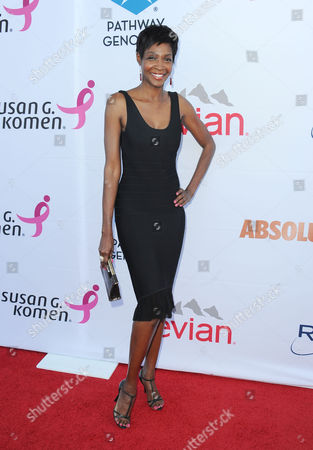 Stock Picture of Roshumba Williams arrives at Pathway to the Cure Benefit at Santa Monica Airport, in Santa Monica, CA