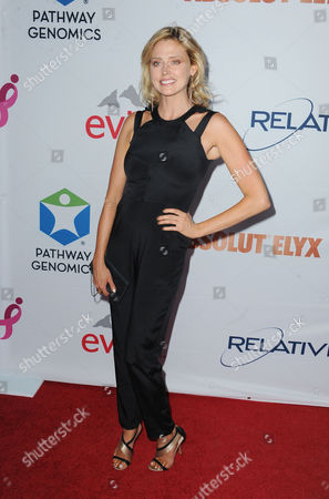 Estella Warren arrives at Pathway to the Cure Benefit at Santa Monica Airport on in Santa Monica, Calif