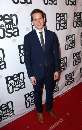 Graham Moore attends the PEN Center USA's 25th Annual Literacy Awards Festival at the Beverly Wilshire Hotel, in Beverly Hills, Calif