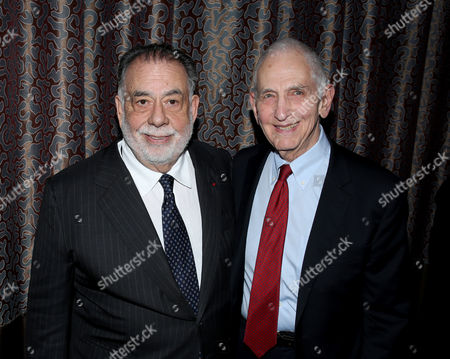Francis Ford Coppola, left, and Daniel Ellsberg attend the PEN Center USA's 25th Annual Literacy Awards Festival at the Beverly Wilshire Hotel, in Beverly Hills, Calif