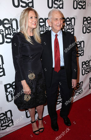 Laura Bickford and Daniel Ellsberg attend the PEN Center USA's 25th Annual Literacy Awards Festival at the Beverly Wilshire Hotel, in Beverly Hills, Calif
