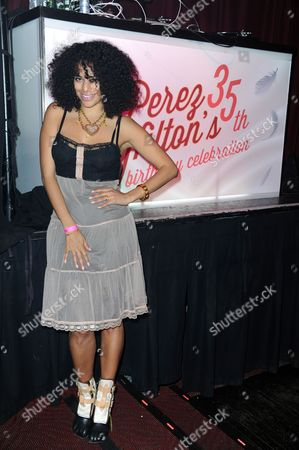 DJ Rashida attends Perez Hilton's Pajama Birthday Party at the El Rey Theatre on in Los Angeles