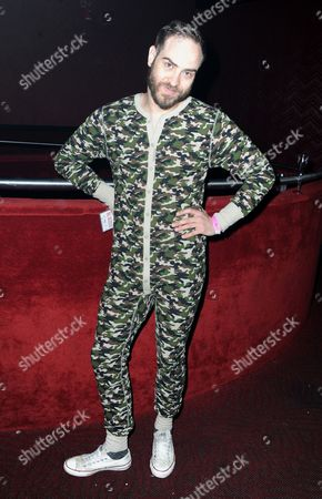 DJ Jeffrey Tonnesen attends Perez Hilton's Pajama Birthday Party at the El Rey Theatre on in Los Angeles