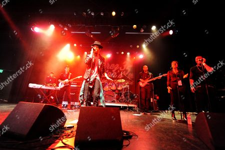 Travis Garland performs at Perez Hilton's Pajama Birthday Party at the El Rey Theatre on in Los Angeles