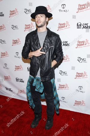 Singer Travis Garland arrives at Perez Hilton's Pajama Birthday Party at the El Rey Theatre on in Los Angeles