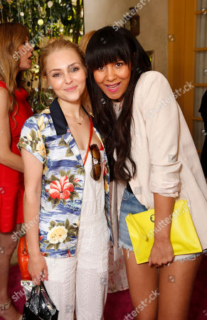 AnnaSophia Robb and Taye Hansberry attend the Polish Play and emPower Chrome Girl Nail Lacquer Debut on in Los Angeles