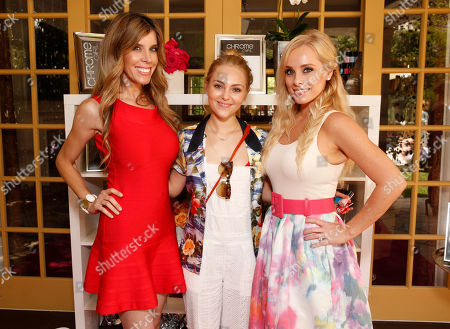 Melissa Ravo, AnnaSophia Robb and Jaime Boreanaz attend the Polish Play and emPower Chrome Girl Nail Lacquer Debut on in Los Angeles