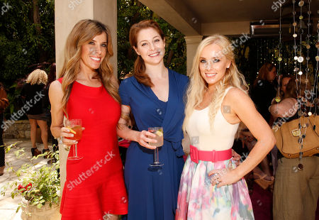 Melissa Ravo, Esme Bianco and Jaime Boreanaz attends the Polish Play and emPower Chrome Girl Nail Lacquer Debut on in Los Angeles