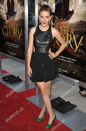 """Abby Miller attends the premiere of """"For Greater Glory"""" at AMPAS Theatre on in Beverly Hills, Calif"""